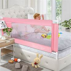 mesh safety baby bed rails 59 inches pink 2 pack