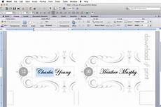 place card template on word place card template print