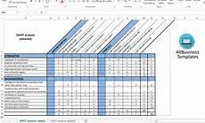 swot analysis excel template 高级 swot analysis template 样本文件在 allbusinesstemplates com