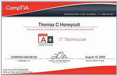 Hardware And Networking Certificate Format Download Comptia A It Technician Certificate