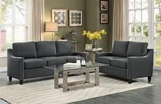 homelegance pagosa sofa set polyester grey 8328