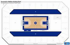 Cameron Indoor Stadium Seating Chart With Rows And Seat Numbers Downstairs Sideline Cameron Indoor Stadium Basketball