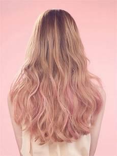 Dark Brown Hair Dip Dyed Light Brown Golden Brown Hair Pink Hair Dip Dye Dip