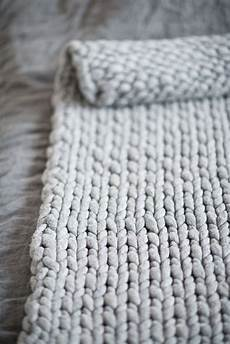 diy knit a chunky blanket from wool roving for