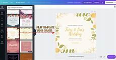 cara mudah desain undangan pernikahan pakai aplikasi canva
