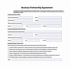 Simple Partnership Agreement Free 10 Sample Business Partnership Agreement Templates