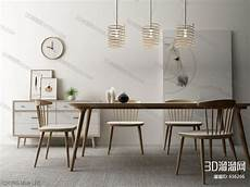 Dining Sofa 3d Image by 3d Model Dining Tables And Chairs 52 Free In 2020
