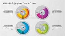 3d Donut Chart Excel Global Vectors Graphs Powerpoint Elements Slidemodel