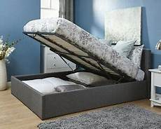 beautiful fabric ottoman storage bed grey 3ft 4ft 4ft6 5ft