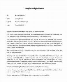 Business Proposal Memo Sample Free 9 Budget Memo Templates In Ms Word Pdf