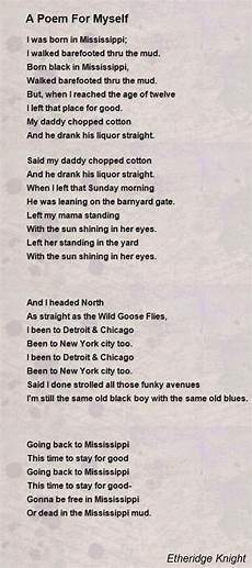How To Write A Poem A Poem For Myself Poem By Etheridge Knight Poem Hunter