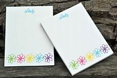 Notepad Designs Personalized Notepads Flower Design Notepads Personalized