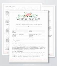Free Wedding Contract Template Wedding Photography Contract Template Client Booking Form