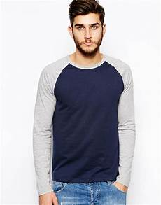 sleeve t shirts asos sleeve t shirt with contrast raglan sleeves in