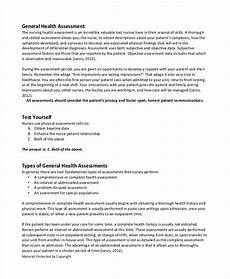 Comprehensive Health History Form Free 45 Sample Health Assessment Forms In Pdf Ms Word