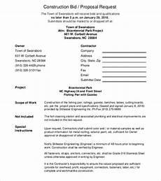 Sample Construction Bid Proposal 16 Free Construction Bid Proposals Pdf Word Free