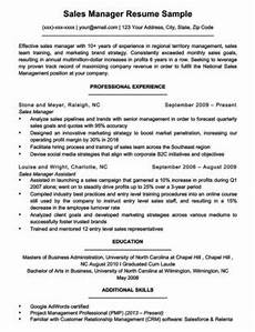 Sales Manager Sample Resumes Marketing Manager Resume Sample Resume Companion