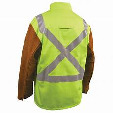 welding jackets safety fr cotton cowhide hybrid
