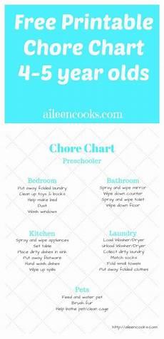 5 Year Old Chore Chart Printable Chore Charts Charts And Free Printable On Pinterest