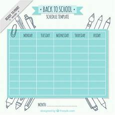 Cute Class Schedule Maker Cute School Schedule Template With Drawings Vector Free