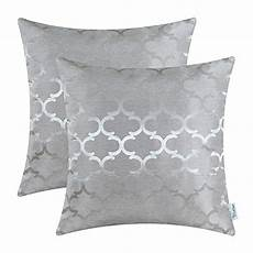 pack of 2 calitime throw pillow covers 18 x 18 inches both