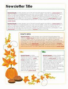 Thanksgiving Newsletter Template Free Newsletter Templates In Microsoft Word Format