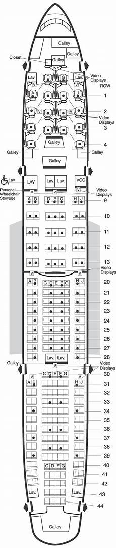 American Airlines 747 Seating Chart American Airlines Boeing 777 Domestic Seating Map Aircraft