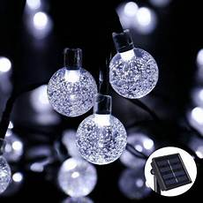 Solar Christmas Lights Walmart Dteck Solar Light String 30 Led Bubble Beads Decorative