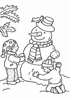 Ausmalbild Schneemann Bauen Ausmalbild Schneem 228 Nner Kinder Bauen Schneemann Kostenlos