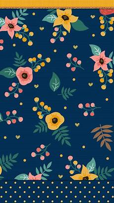 Modern Flower Wallpaper For Iphone by Navy Blue Floral Wallpaper Iphone Wallpaper Blue