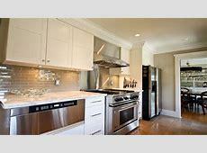 Taupe Subway Tile Kitchen Backsplash Ideas