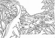 dinos im wald ausmalbild malvorlage tiere