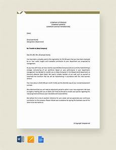 Transfer Letter Format From One Location To Another 13 Employee Transfer Letter Templates Doc Pdf Free