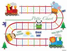 Train Chart Download Printable Animal Train English Potty Training Chart