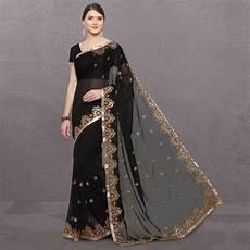 Black Georgette Designer Saree Designer Bahu Black Georgette Saree Buy Designer Bahu
