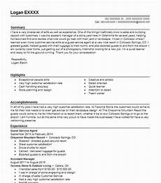 Guest Services Resume Guest Service Agent Resume Sample Agent Resumes Livecareer