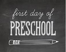 First Day Of Preschool Template First Day Of School Printables For Kids Pictures The