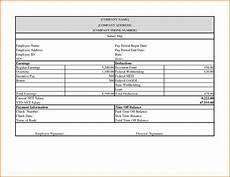 Check Template Microsoft Word 5 Pay Stub Template Microsoft Word Simple Salary Slip