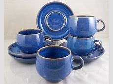 Denby ENGLISH BLUE Authentic Stoneware Rams Head 5 Cups