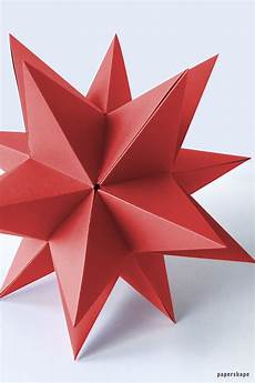 How To Make Templates Step By Step How To Make A Huge 3d Star From Paper For
