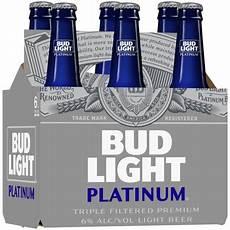6 Oz Bud Light Bud Light Platinum 174 6 Pack 12 Fl Oz Bottles
