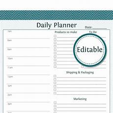Weekly Business Planner Daily Business Planner Editable Business Planner