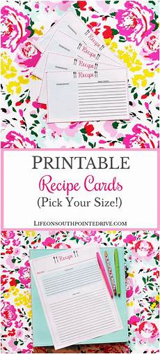 Recipes Cards Free Printable Recipe Cards Organize Your Kitchen