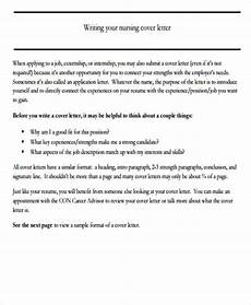 Example Of A Nursing Cover Letters Free 6 Nursing Cover Letter Templates In Ms Word Pdf