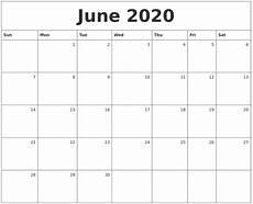 June 2020 Weekly Calendar July 2020 Calendar Printable