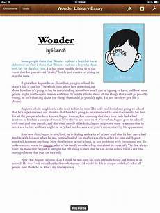 How To Essay Example For Kids Wonder Literary Essay By