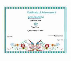 Certificates Of Achievement Free Templates 40 Great Certificate Of Achievement Templates Free
