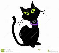 gatto clipart arte di clip isolata gatto nero illustrazione di stock