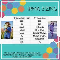 Sizing Chart For Lularoe Irma Irma Sizing Lularoe Pinterest Lularoe Sizing