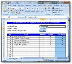 Gpa Calculator Excel Template Download Gpa Calculator
